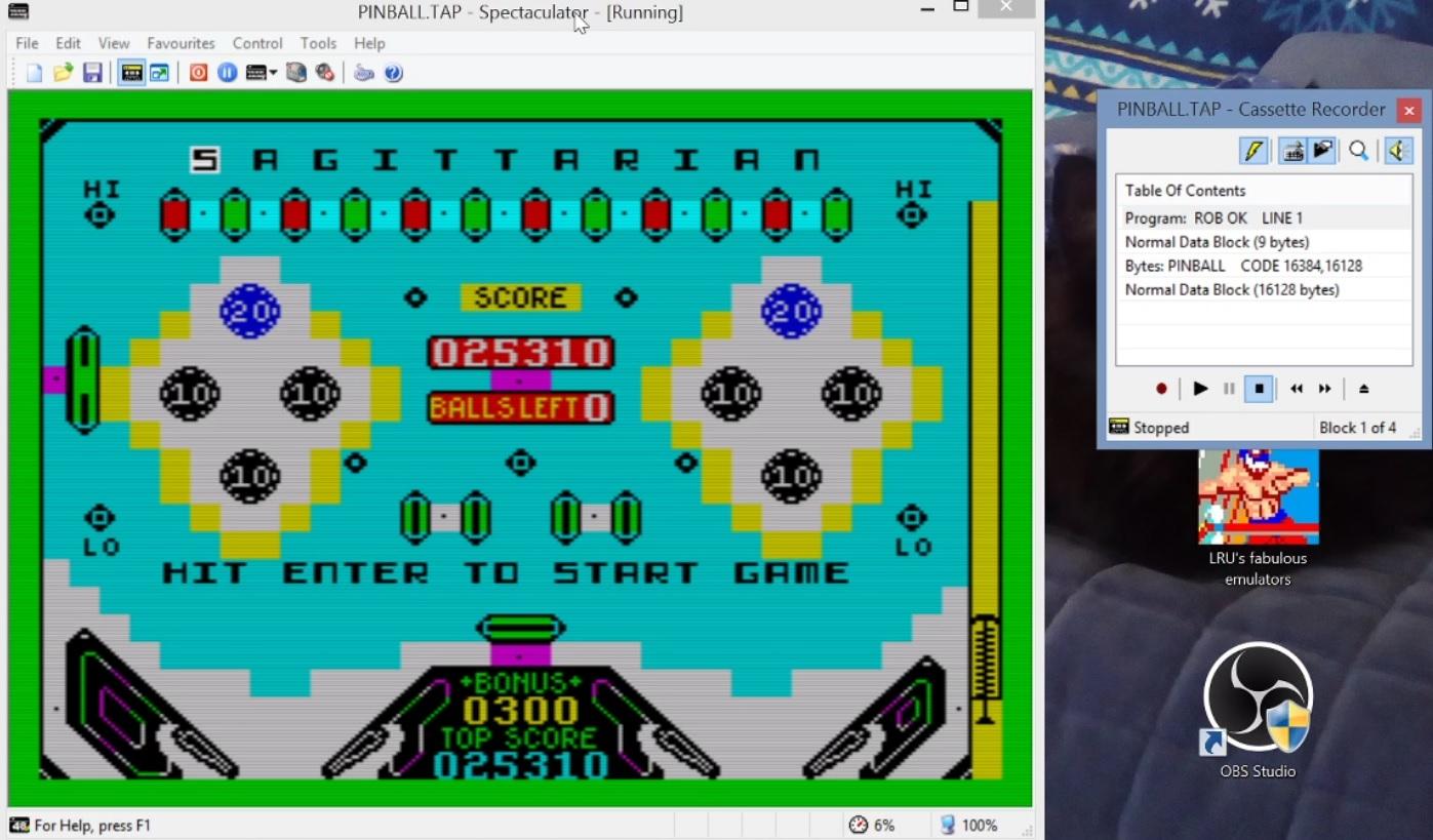LuigiRuffolo: Pinball Wizard (ZX Spectrum Emulated) 25,310 points on 2021-01-13 10:00:44