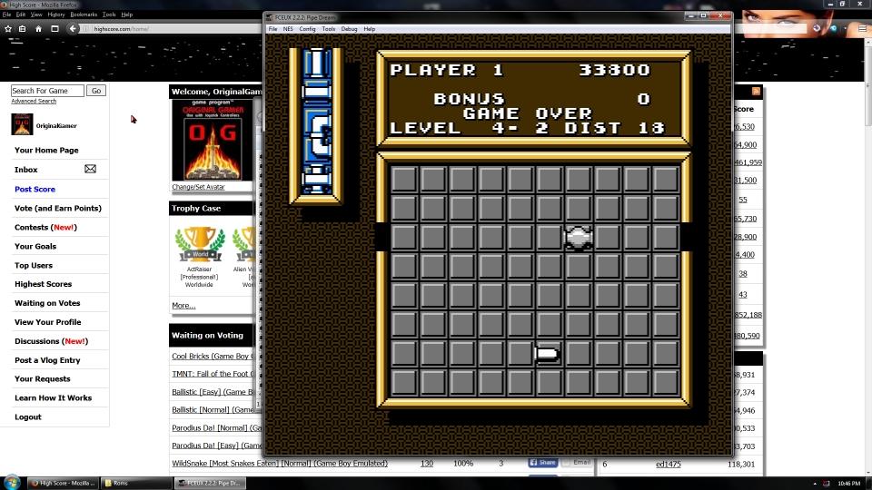OriginalGamer: Pipe Dream [Game A/ Level 3] (NES/Famicom Emulated) 33,800 points on 2016-07-15 16:18:46