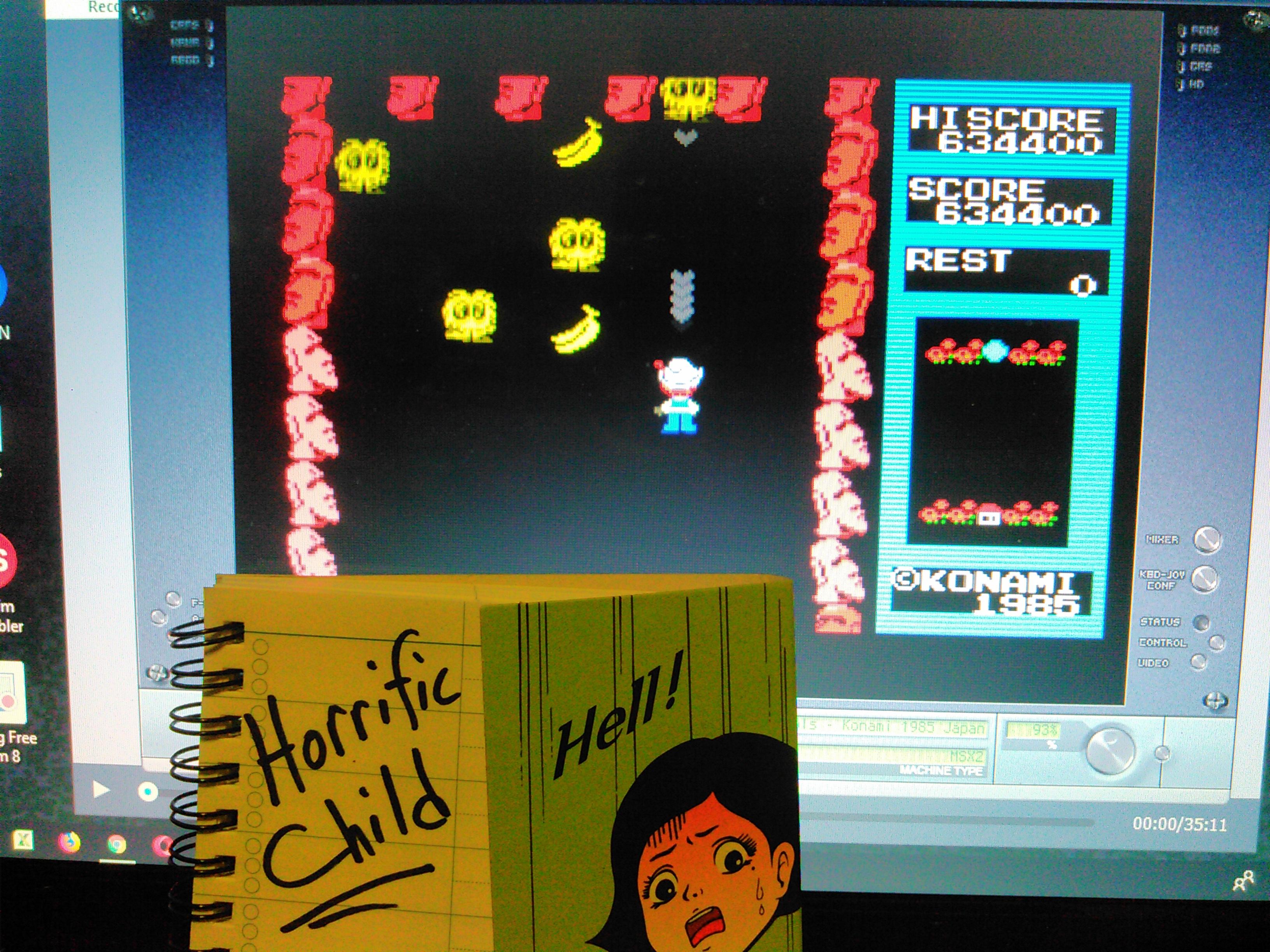HorrificChild: Pippols (MSX Emulated) 634,400 points on 2018-01-19 09:17:04