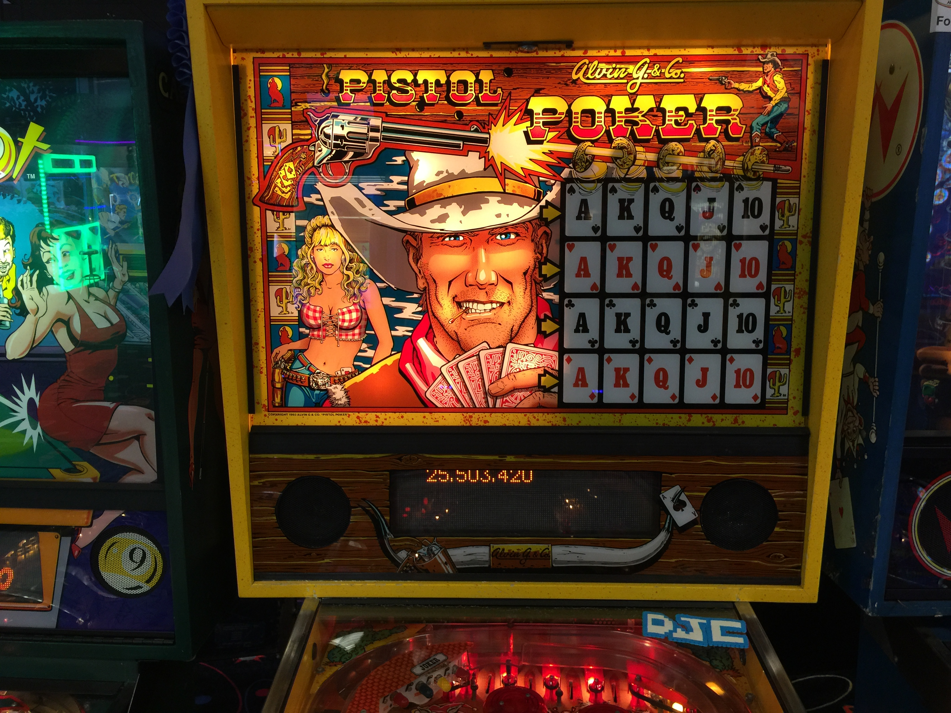derek: Pistol Poker (Pinball: 3 Balls) 25,503,420 points on 2016-05-21 11:27:17