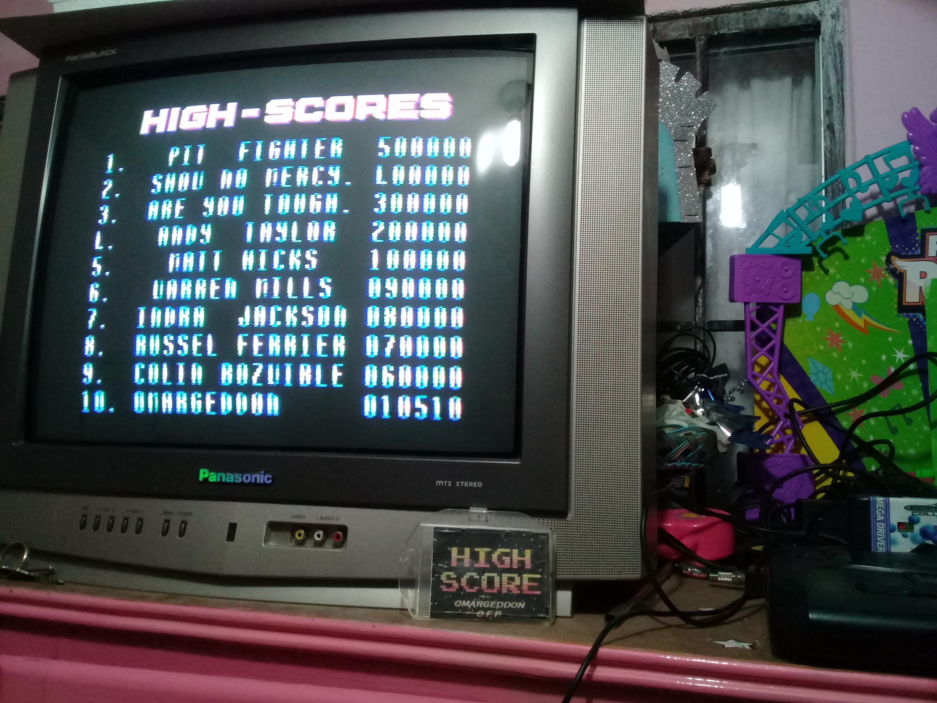 omargeddon: Pit Fighter [Easy] (Sega Master System) 10,510 points on 2019-01-14 00:18:24