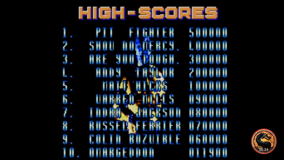 omargeddon: Pit Fighter [Easy] (Sega Master System Emulated) 11,900 points on 2019-04-21 18:58:15