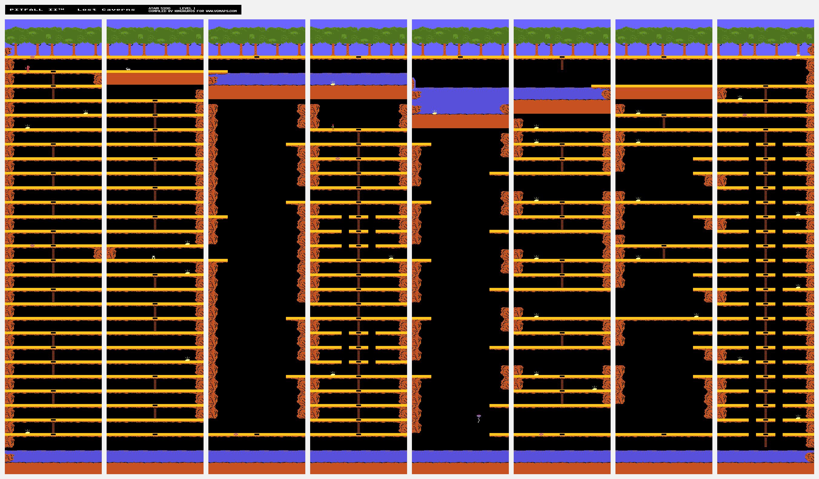 atari2600forever: Pitfall 2: Lost Caverns (Atari 5200) 157,145 points on 2020-01-03 10:18:58