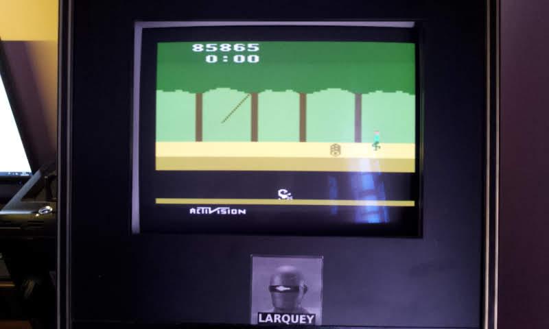 Larquey: Pitfall! (Atari 2600 Emulated Novice/B Mode) 85,865 points on 2018-06-10 11:52:21