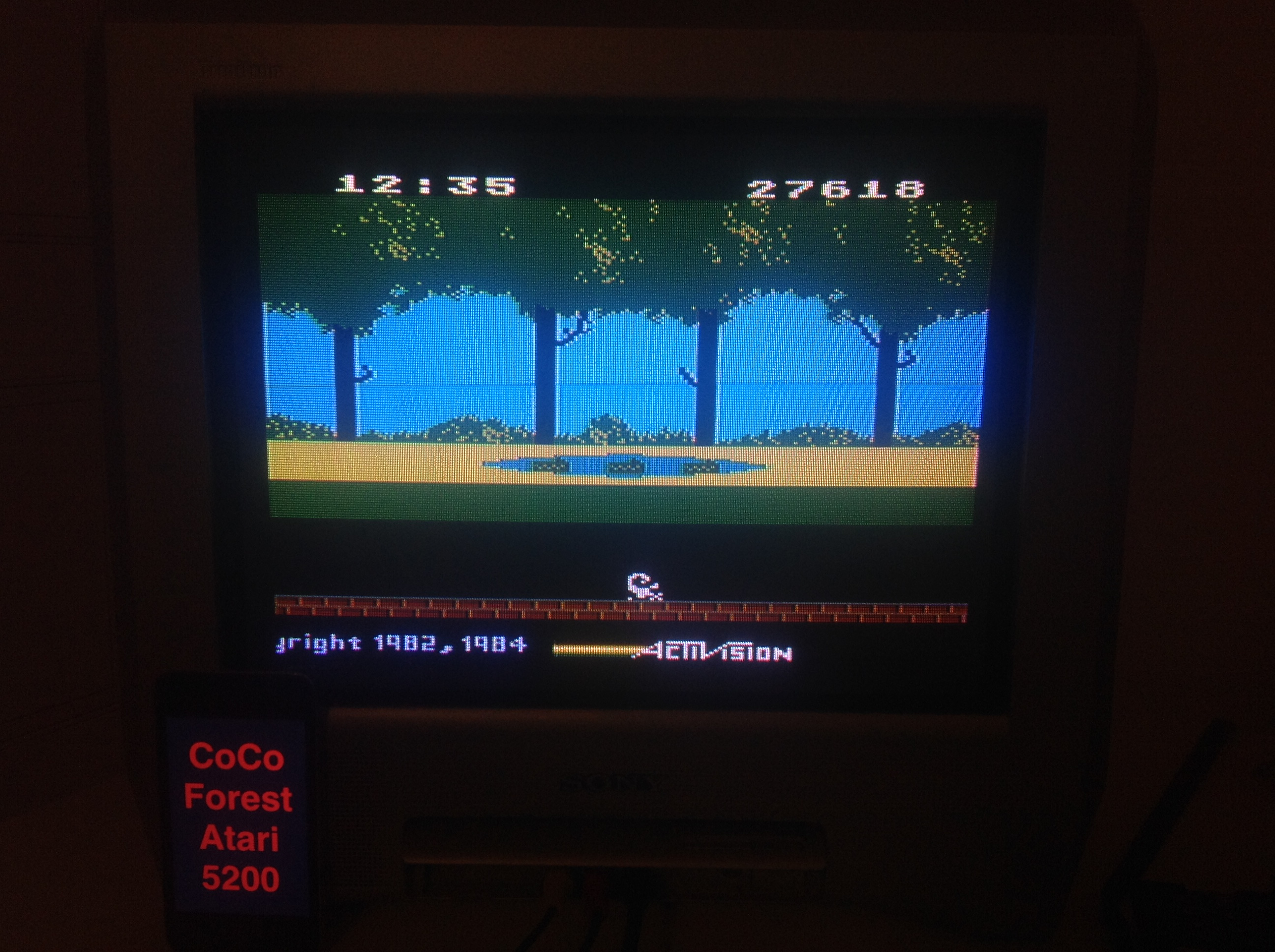 CoCoForest: Pitfall (Atari 5200) 27,618 points on 2015-11-16 12:02:15