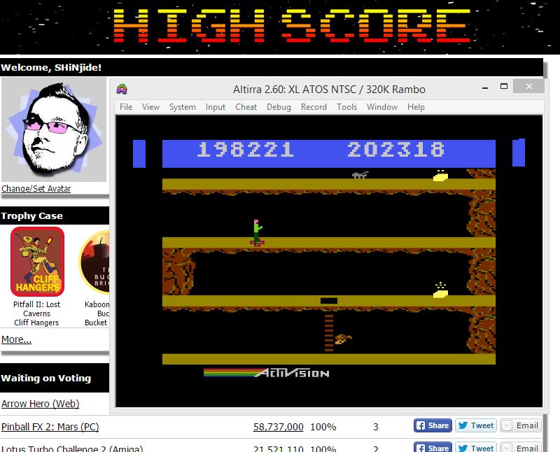 SHiNjide: Pitfall II (Atari 400/800/XL/XE Emulated) 202,318 points on 2015-07-30 09:43:37
