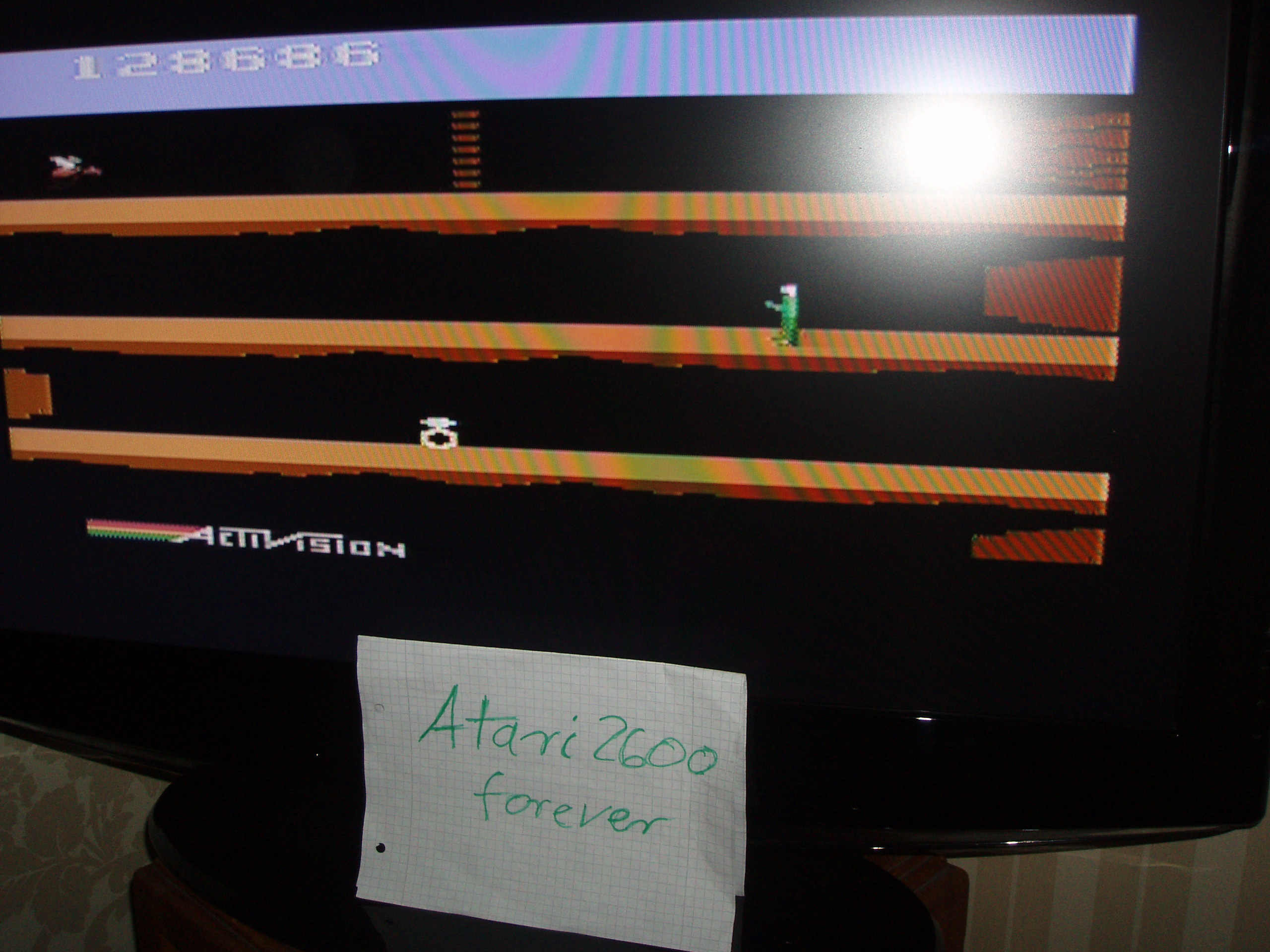 atari2600forever: Pitfall II: Lost Caverns (Atari 2600) 128,686 points on 2015-10-18 08:10:12