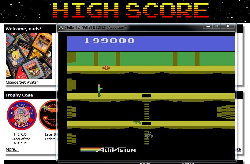 nads: Pitfall II: Lost Caverns (Atari 2600 Emulated) 199,000 points on 2016-01-30 16:46:11
