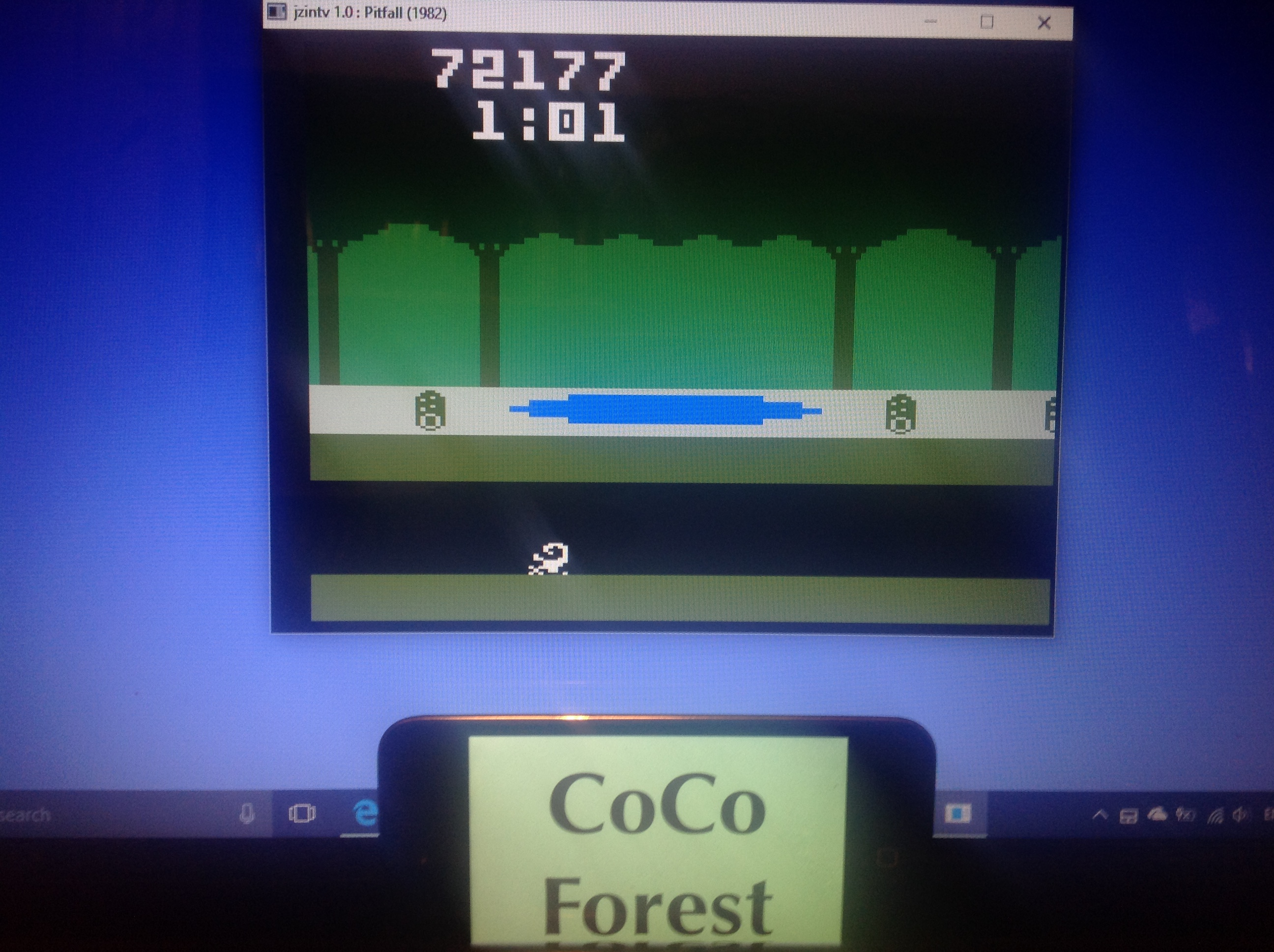CoCoForest: Pitfall (Intellivision Emulated) 72,177 points on 2018-01-25 14:04:43