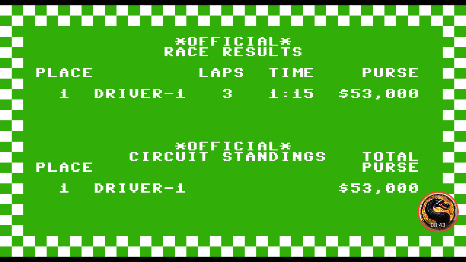 omargeddon: Pitstop: Albi [3 Laps] (Commodore 64 Emulated) 0:01:15 points on 2019-09-07 00:11:32