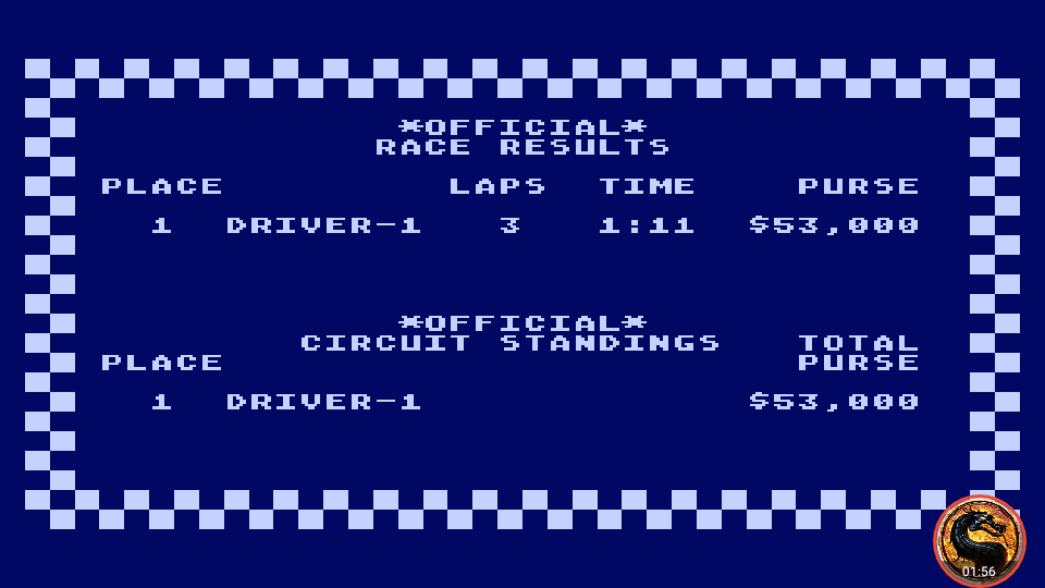 omargeddon: Pitstop [Albi] (Atari 400/800/XL/XE Emulated) 0:01:11 points on 2019-04-15 02:07:33