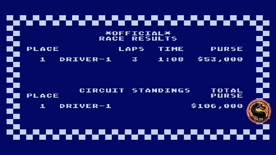 omargeddon: Pitstop [Albi: Grand-Circuit] (Atari 400/800/XL/XE Emulated) 0:01:08 points on 2019-04-15 19:00:58