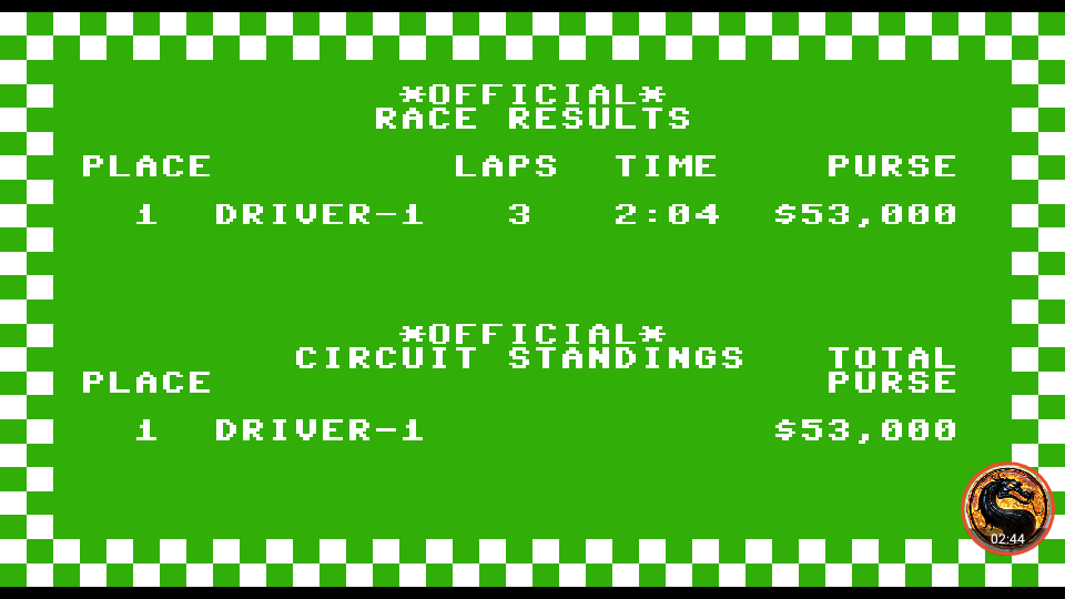 omargeddon: Pitstop: Monaco [3 Laps] (Commodore 64 Emulated) 0:02:04 points on 2019-09-07 00:36:55