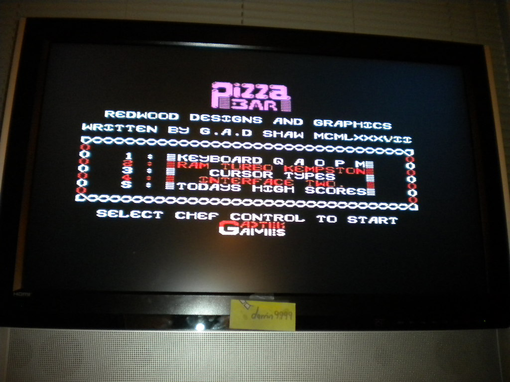 darrin9999: Pizza Bar (ZX Spectrum Emulated) 100 points on 2016-08-11 14:51:46