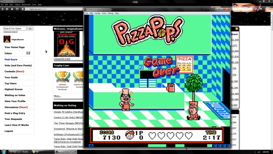 OriginalGamer: Pizza Pop! (NES/Famicom Emulated) 7,130 points on 2016-09-19 00:53:42