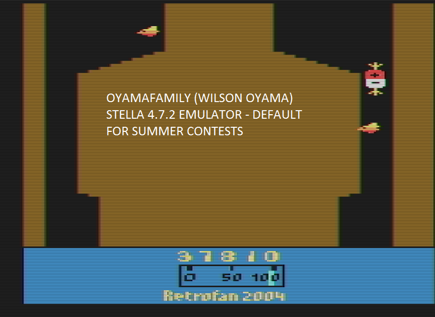 oyamafamily: Planet Raid (Atari 2600 Emulated) 37,810 points on 2016-07-16 07:58:28
