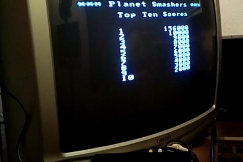 RetroRob: Planet Smashers: Easy (Atari Flashback 1) 156,000 points on 2019-05-02 16:02:22