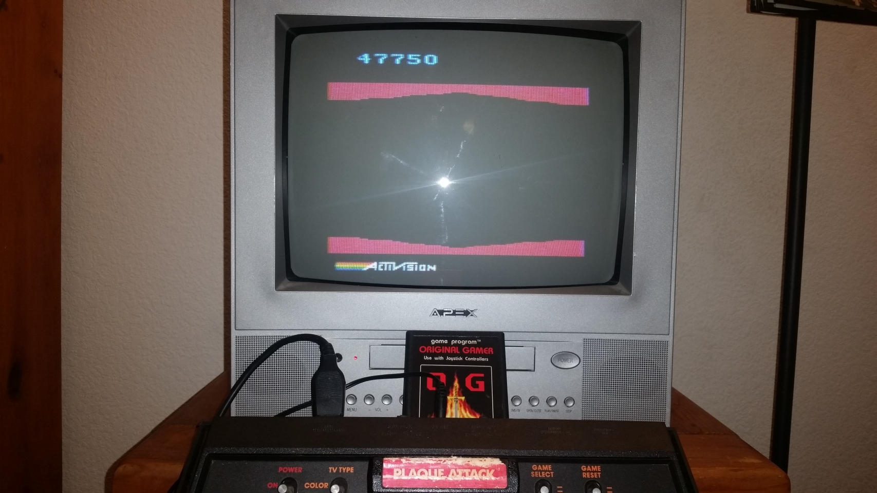 OriginalGamer: Plaque Attack (Atari 2600 Novice/B) 47,750 points on 2018-01-07 03:34:02