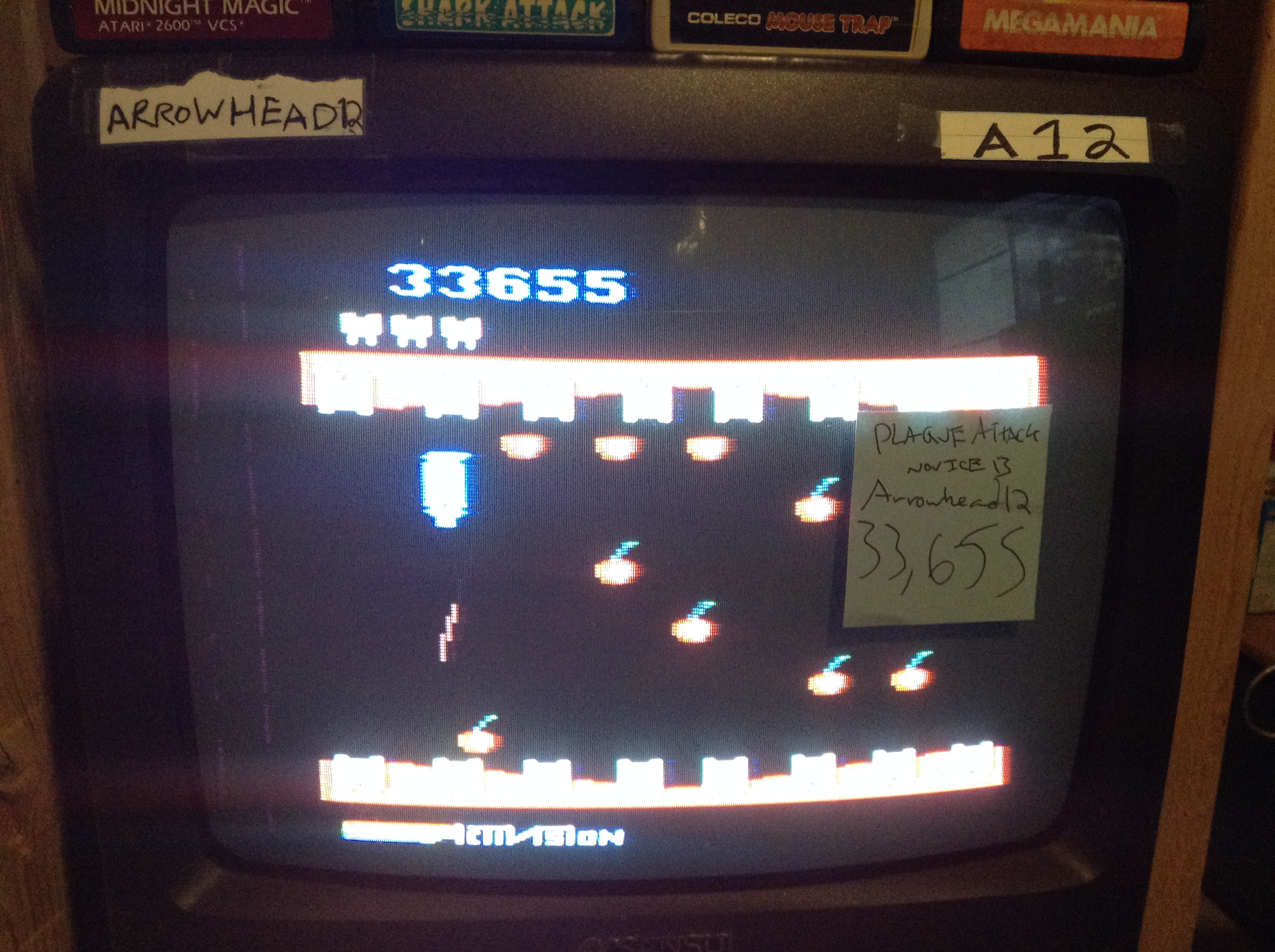 Arrowhead12: Plaque Attack (Atari 2600 Novice/B) 33,655 points on 2019-05-05 23:42:35