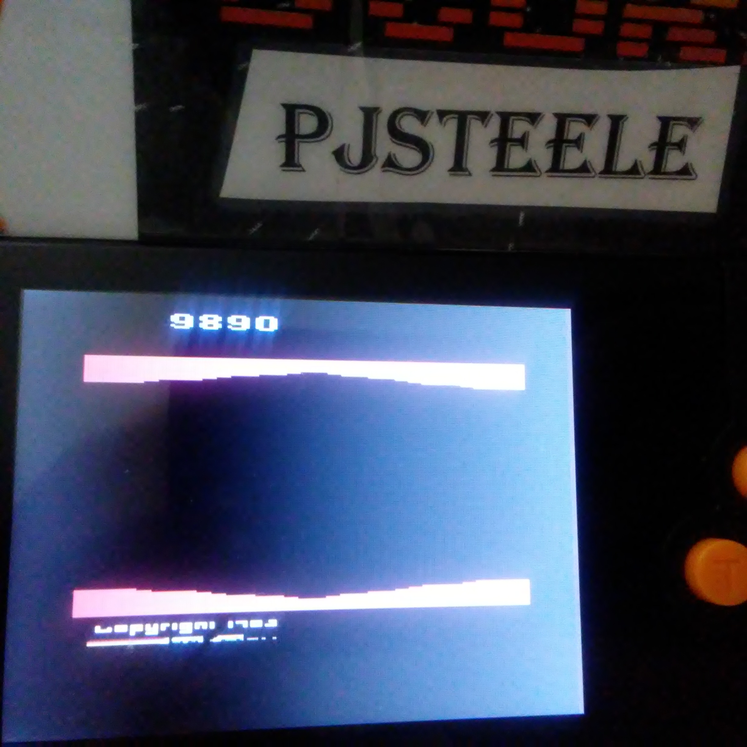 Pjsteele: Plaque Attack (Atari 2600 Emulated Novice/B Mode) 9,890 points on 2018-02-20 21:08:24
