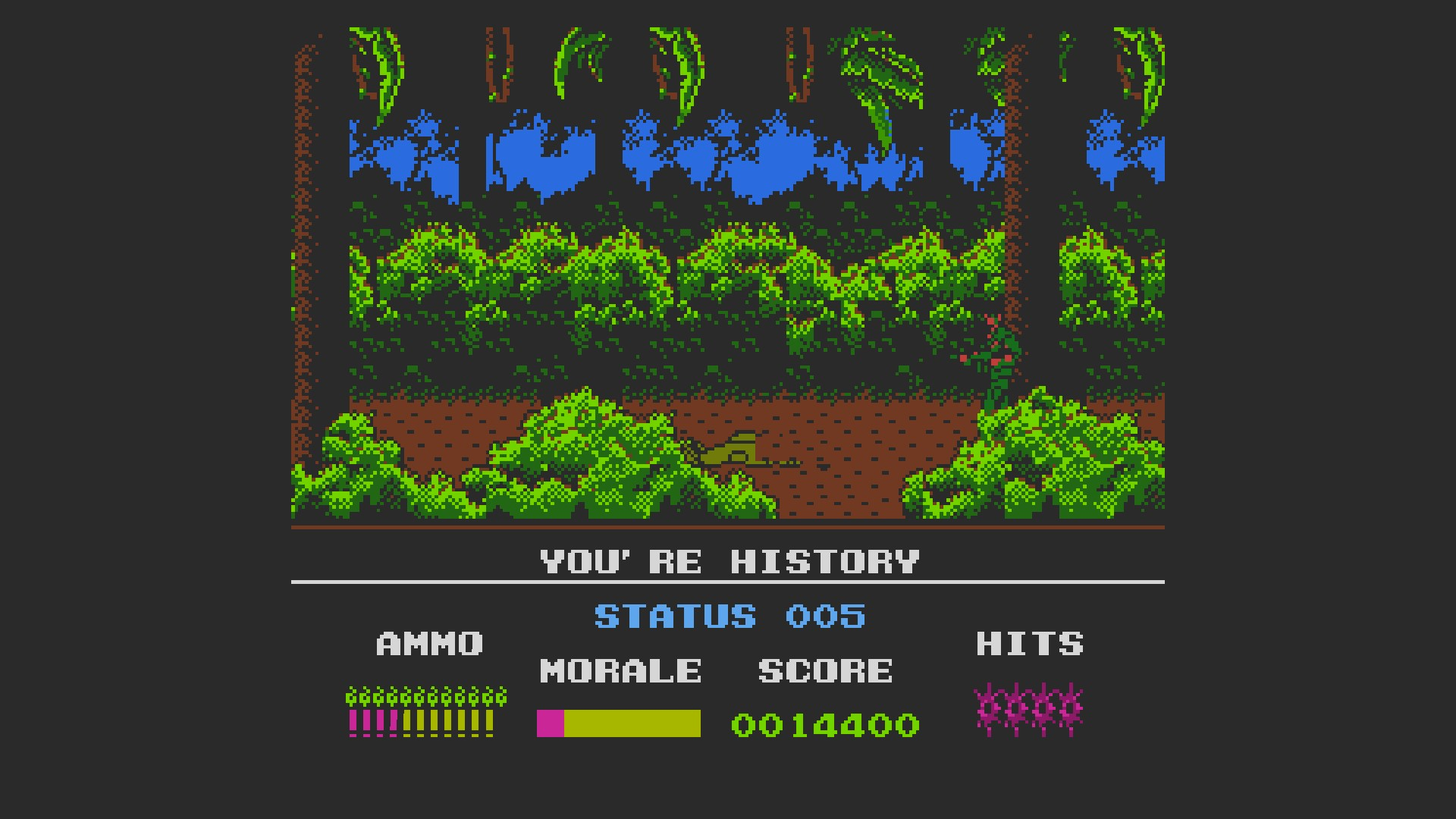 AkinNahtanoj: Platoon (NES/Famicom Emulated) 14,400 points on 2020-10-12 14:10:00