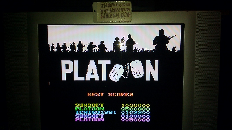 ichigokurosaki1991: Platoon (NES/Famicom Emulated) 102,200 points on 2016-07-14 01:26:02