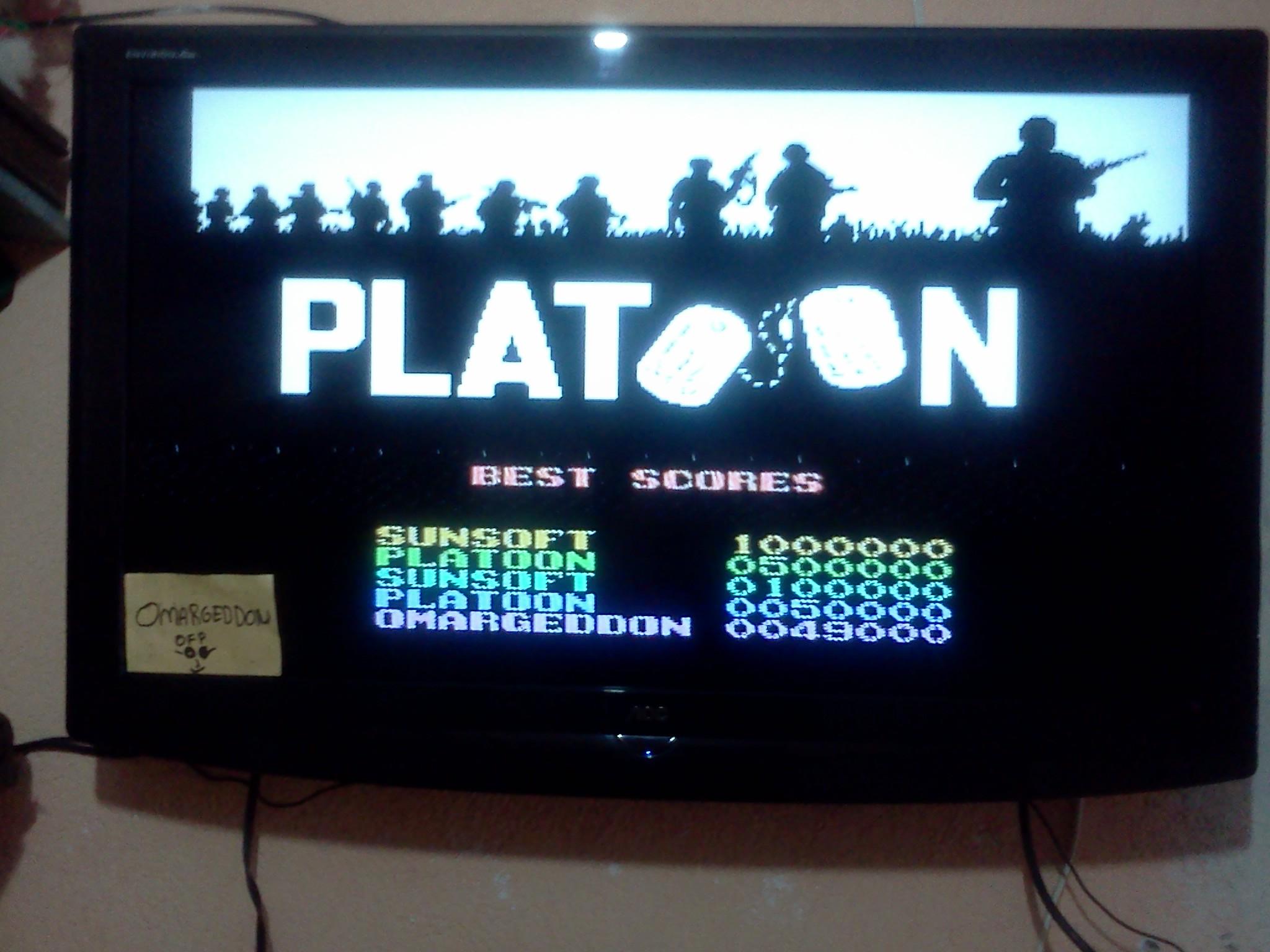 Platoon 49,000 points