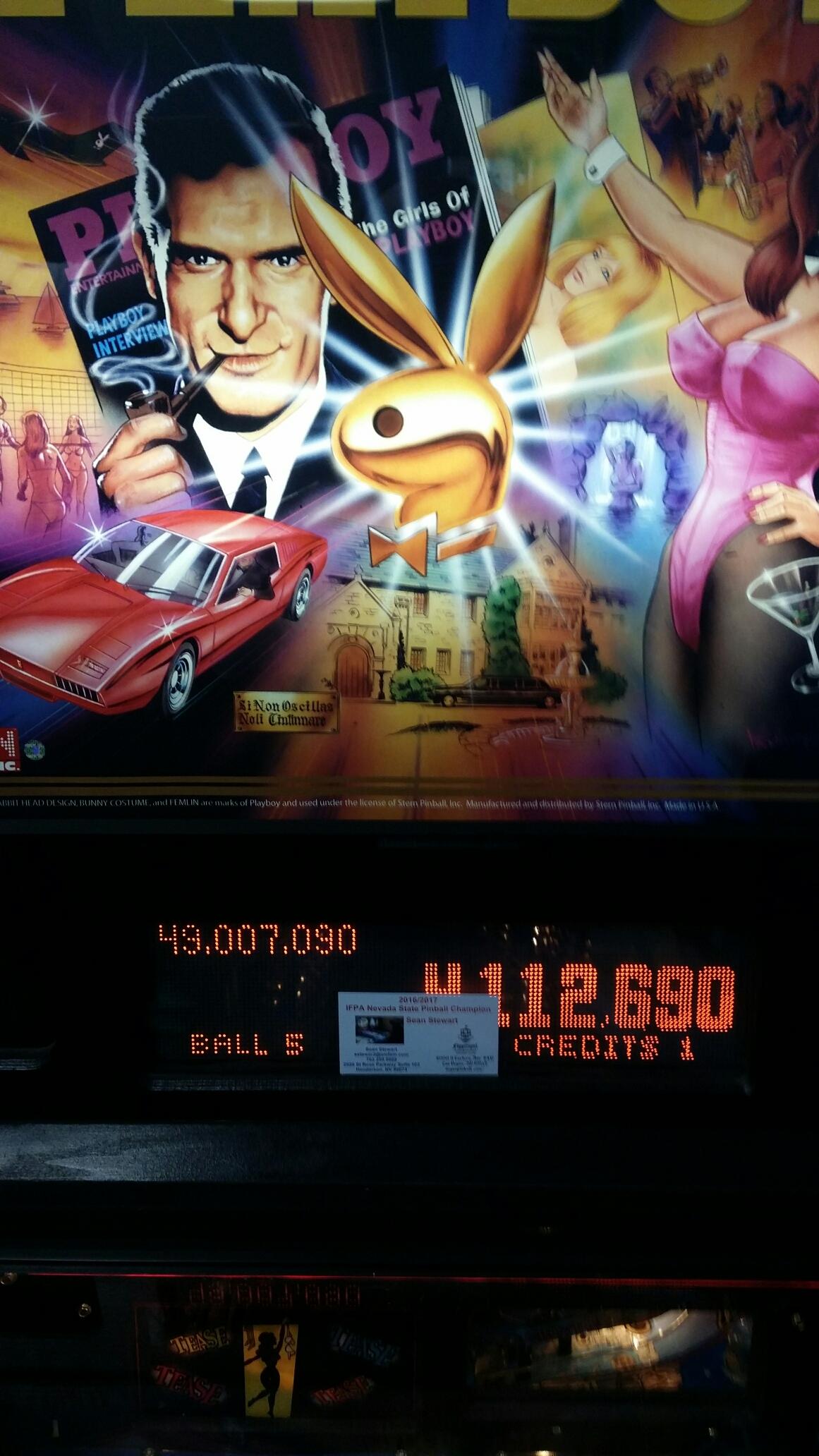 Playboy (Stern Pinball) 49,007,090 points