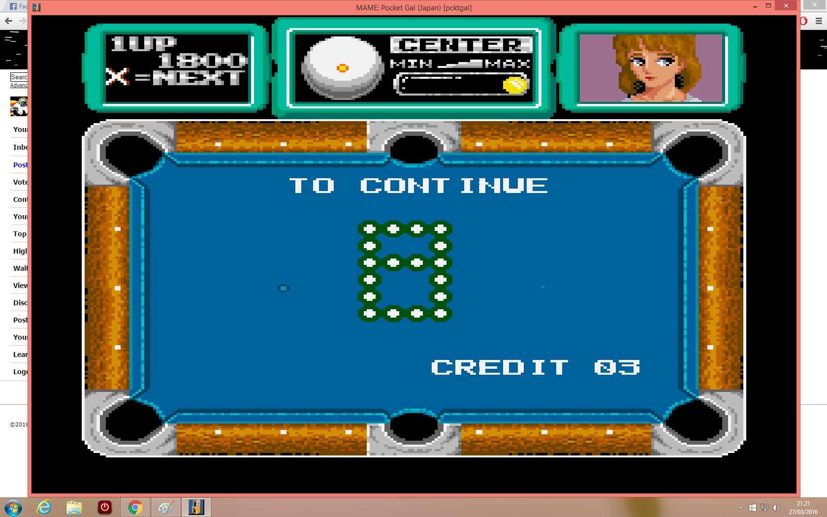 lenny2571: Pocket Gal (Arcade Emulated / M.A.M.E.) 1,800 points on 2016-03-27 14:22:44
