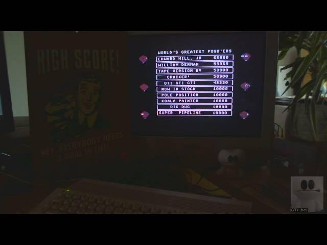 GTibel: Pogo Joe [Any Speed Pogo Joe] (Commodore 64) 48,330 points on 2019-02-22 03:32:13