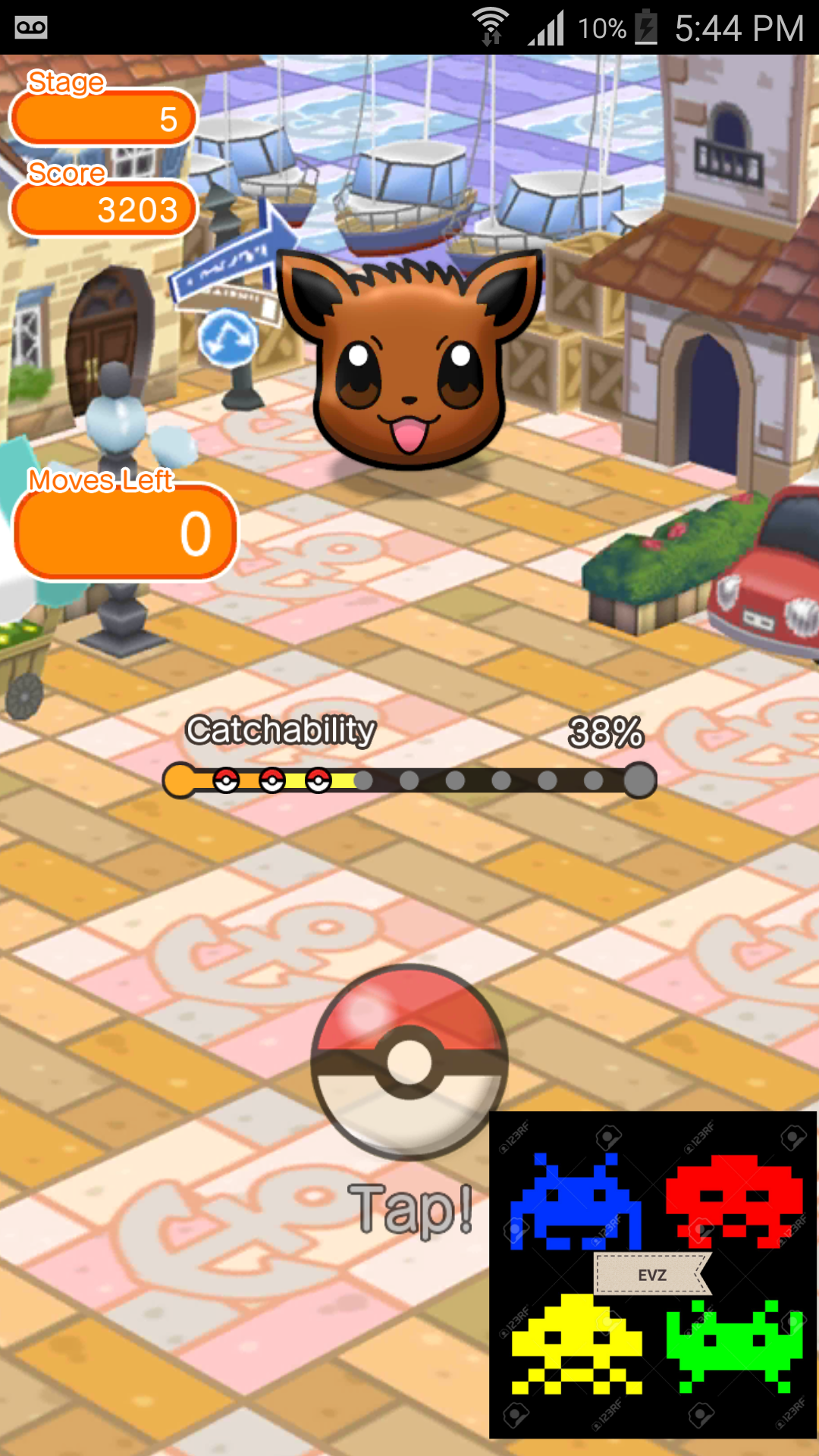 Pokemon Shuffle Mobile: Stage 005 3,203 points