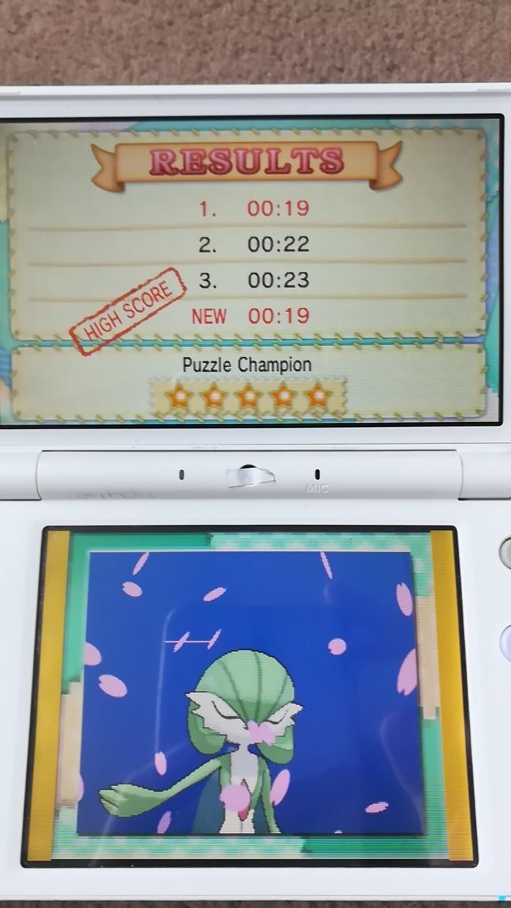 Pokemon X/Y: Pokemon-Amie: Tile Puzzle [Normal] time of 0:00:19