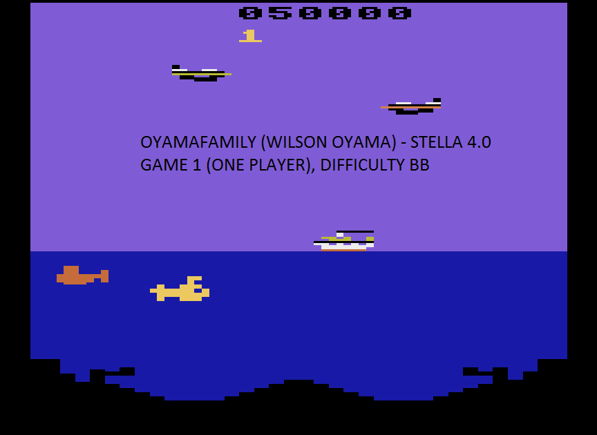 oyamafamily: Polaris (Atari 2600 Emulated Novice/B Mode) 50,000 points on 2015-08-15 11:20:25