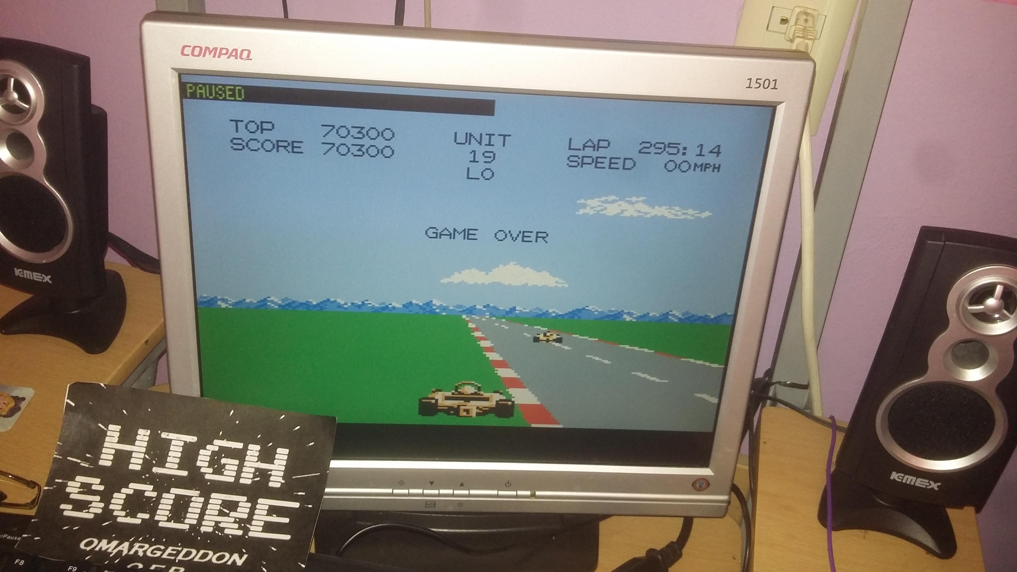 omargeddon: Pole Position 2: Fuji (Atari 7800 Emulated) 70,300 points on 2016-10-11 18:01:29