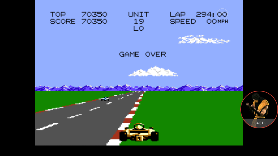 omargeddon: Pole Position 2: Fuji (Atari 7800 Emulated) 70,350 points on 2017-11-22 19:27:32