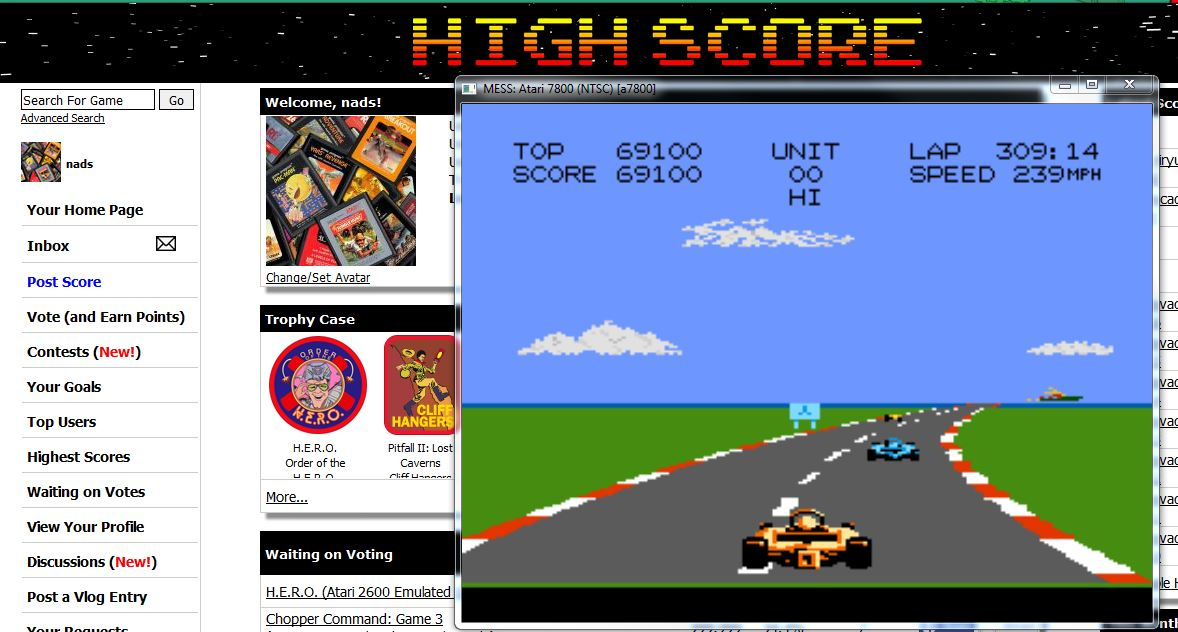 nads: Pole Position 2: Seaside (Atari 7800 Emulated) 69,100 points on 2016-07-30 07:43:30