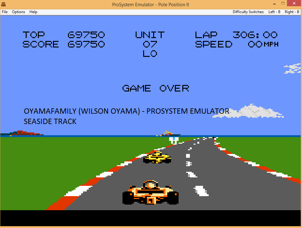 oyamafamily: Pole Position 2: Seaside (Atari 7800 Emulated) 69,750 points on 2017-04-16 18:35:02