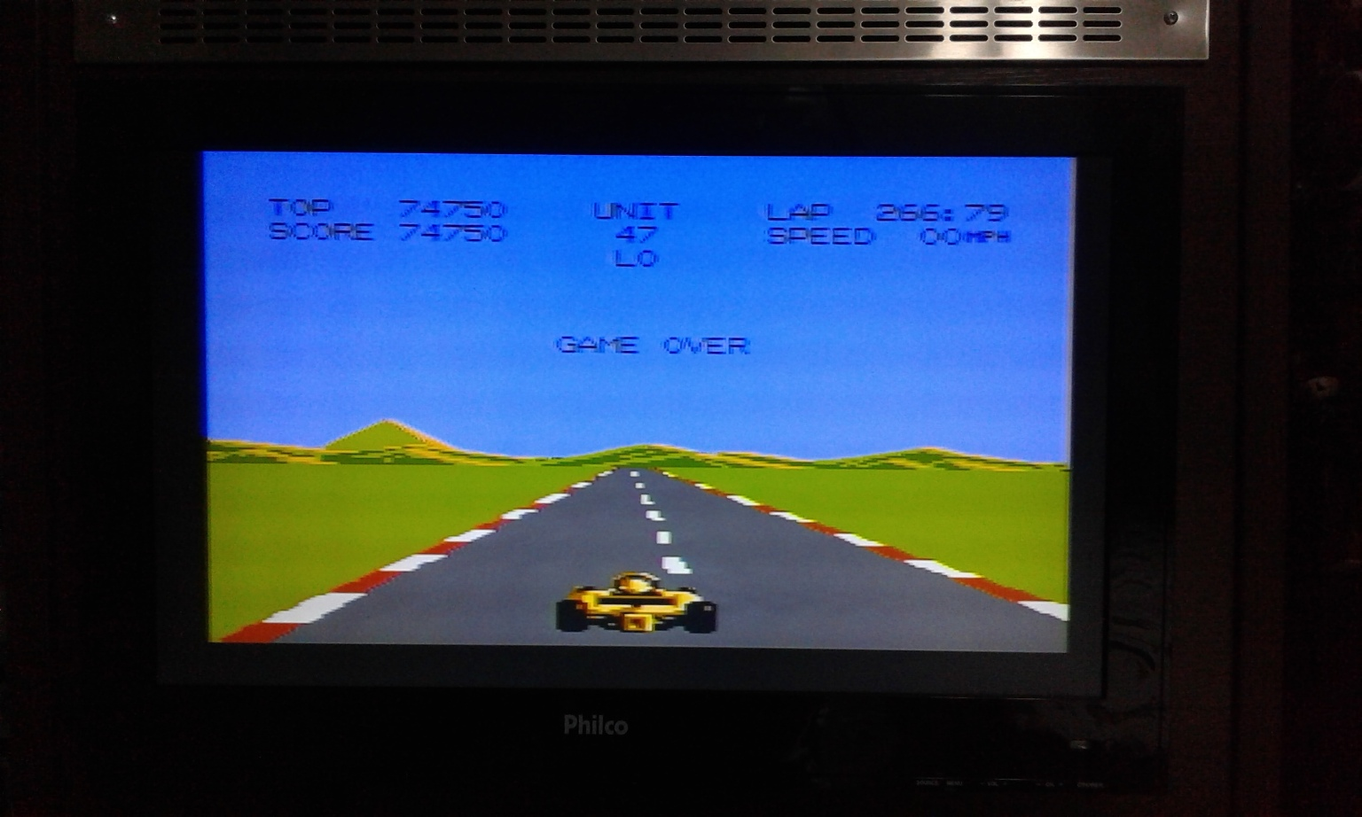 oyamafamily: Pole Position 2: Test Track (Atari 7800) 74,750 points on 2017-01-28 03:59:34