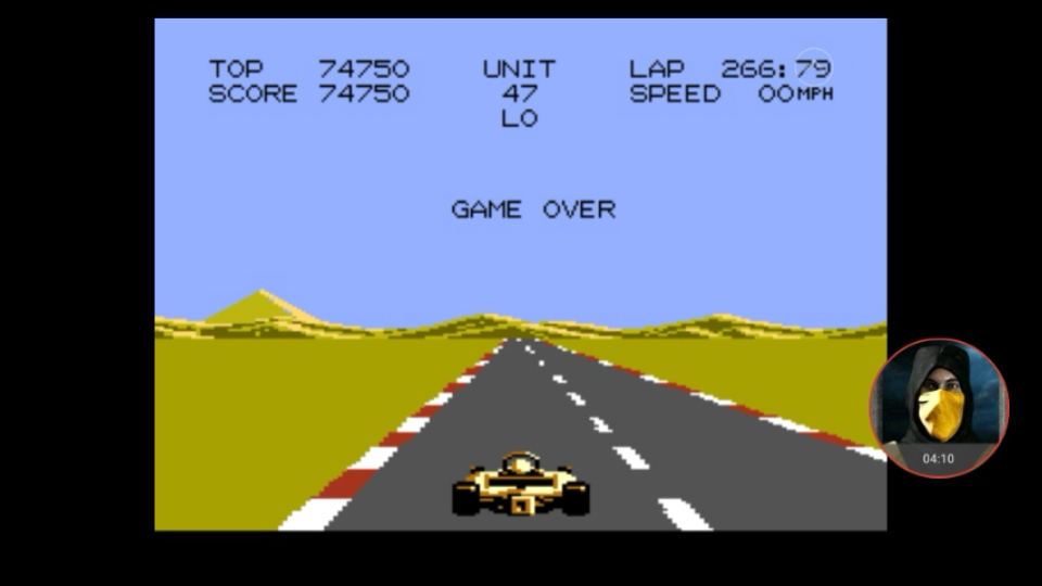 omargeddon: Pole Position 2: Test Track (Atari 7800 Emulated) 74,750 points on 2018-01-13 18:52:07