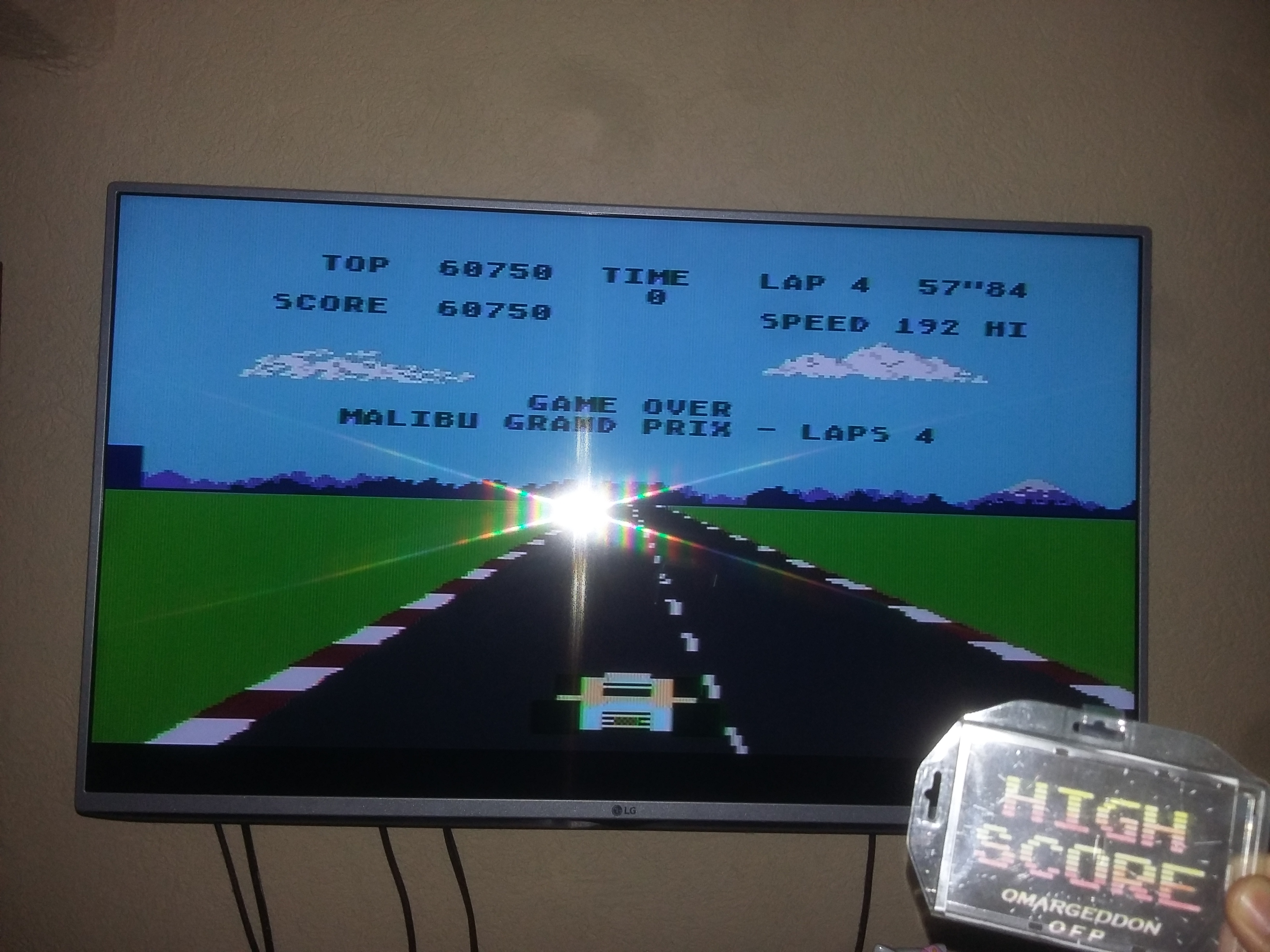 omargeddon: Pole Position (Atari 400/800/XL/XE) 60,750 points on 2017-07-17 22:08:38