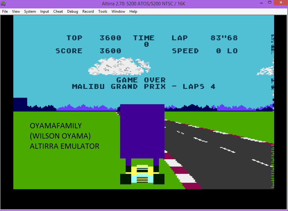 oyamafamily: Pole Position (Atari 5200 Emulated) 3,600 points on 2016-03-10 19:38:27