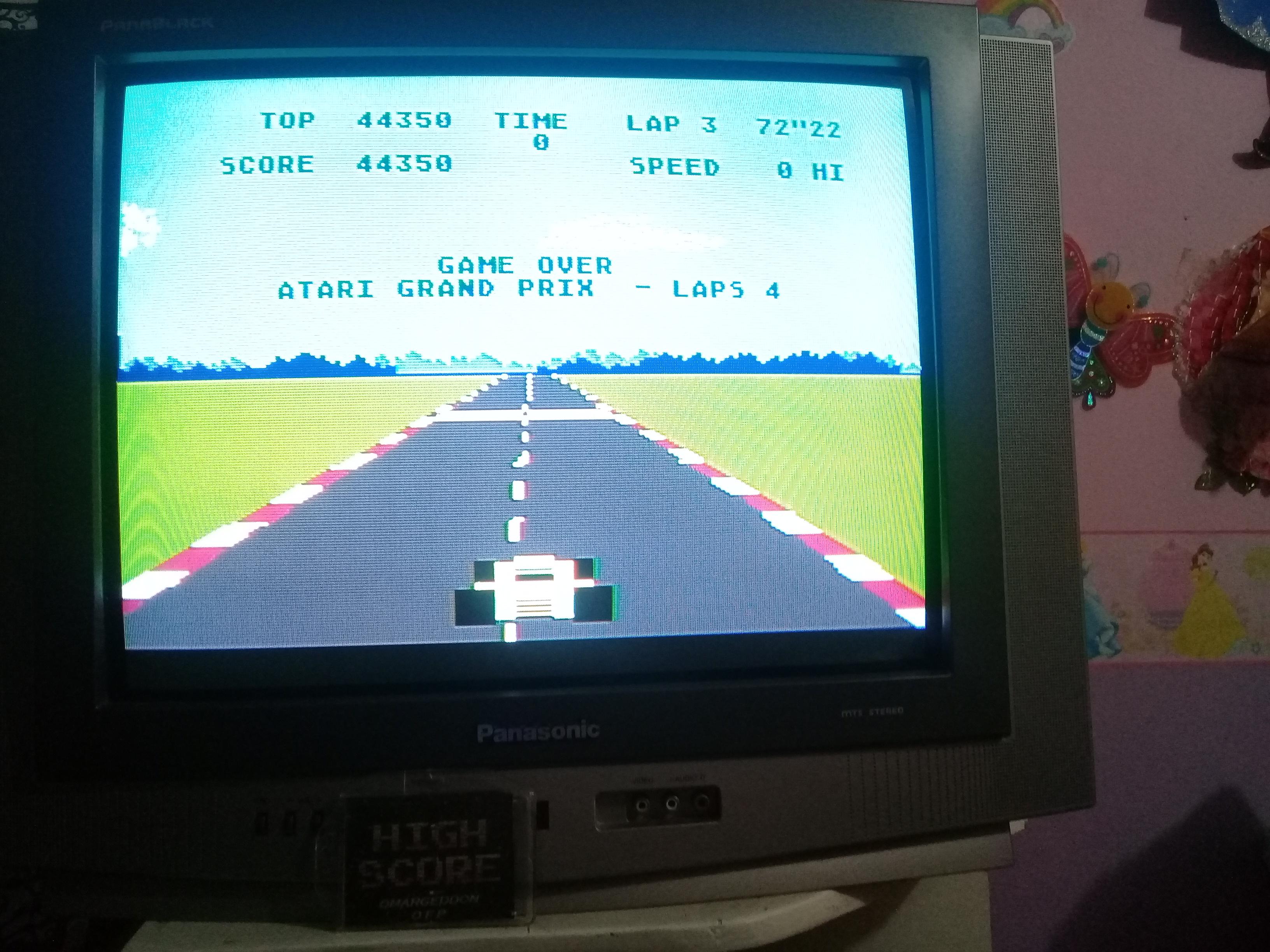 omargeddon: Pole Position: Atari Grand Prix [4 Laps] (Atari 400/800/XL/XE) 44,350 points on 2019-03-12 21:02:25