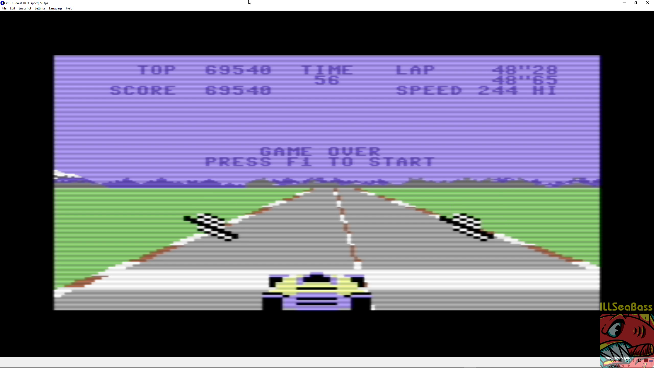 ILLSeaBass: Pole Position (Commodore 64 Emulated) 69,540 points on 2018-11-06 09:31:39