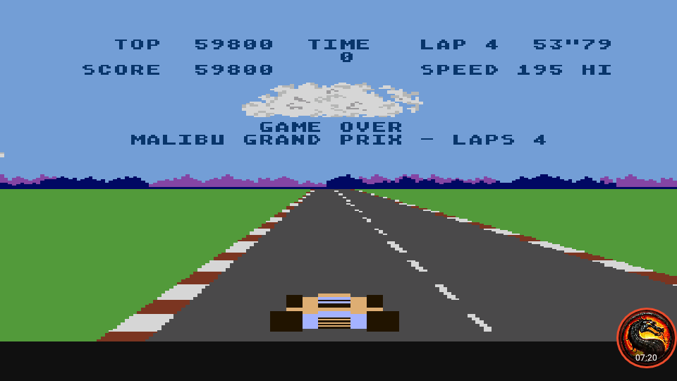 omargeddon: Pole Position: Malibu Grand Prix [4 Laps] (Atari 400/800/XL/XE Emulated) 59,800 points on 2020-06-15 21:24:19