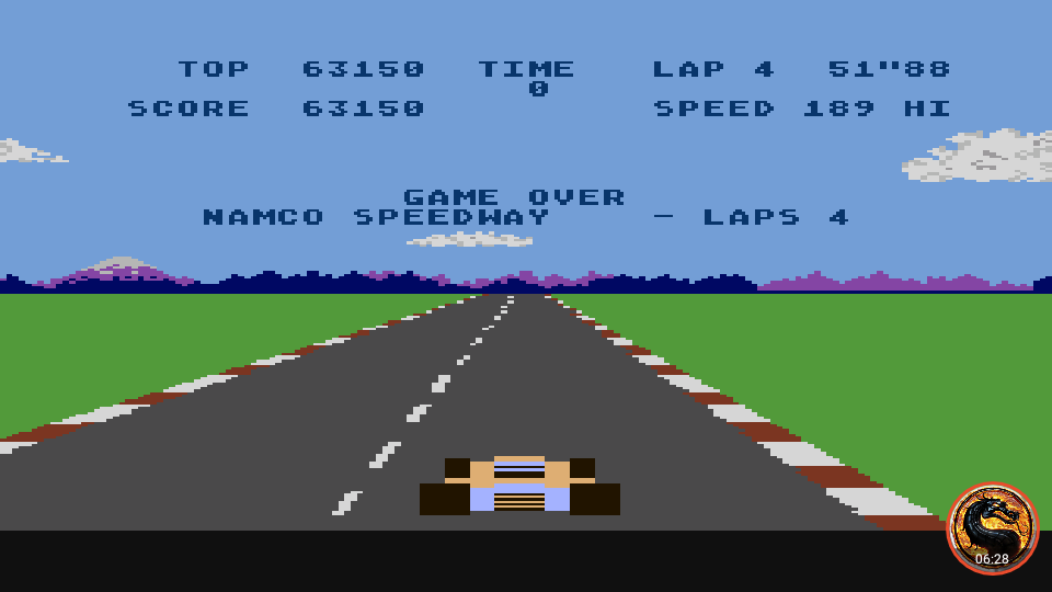omargeddon: Pole Position: Namco Speedway [4 Laps] (Atari 400/800/XL/XE Emulated) 63,150 points on 2019-02-13 22:57:22