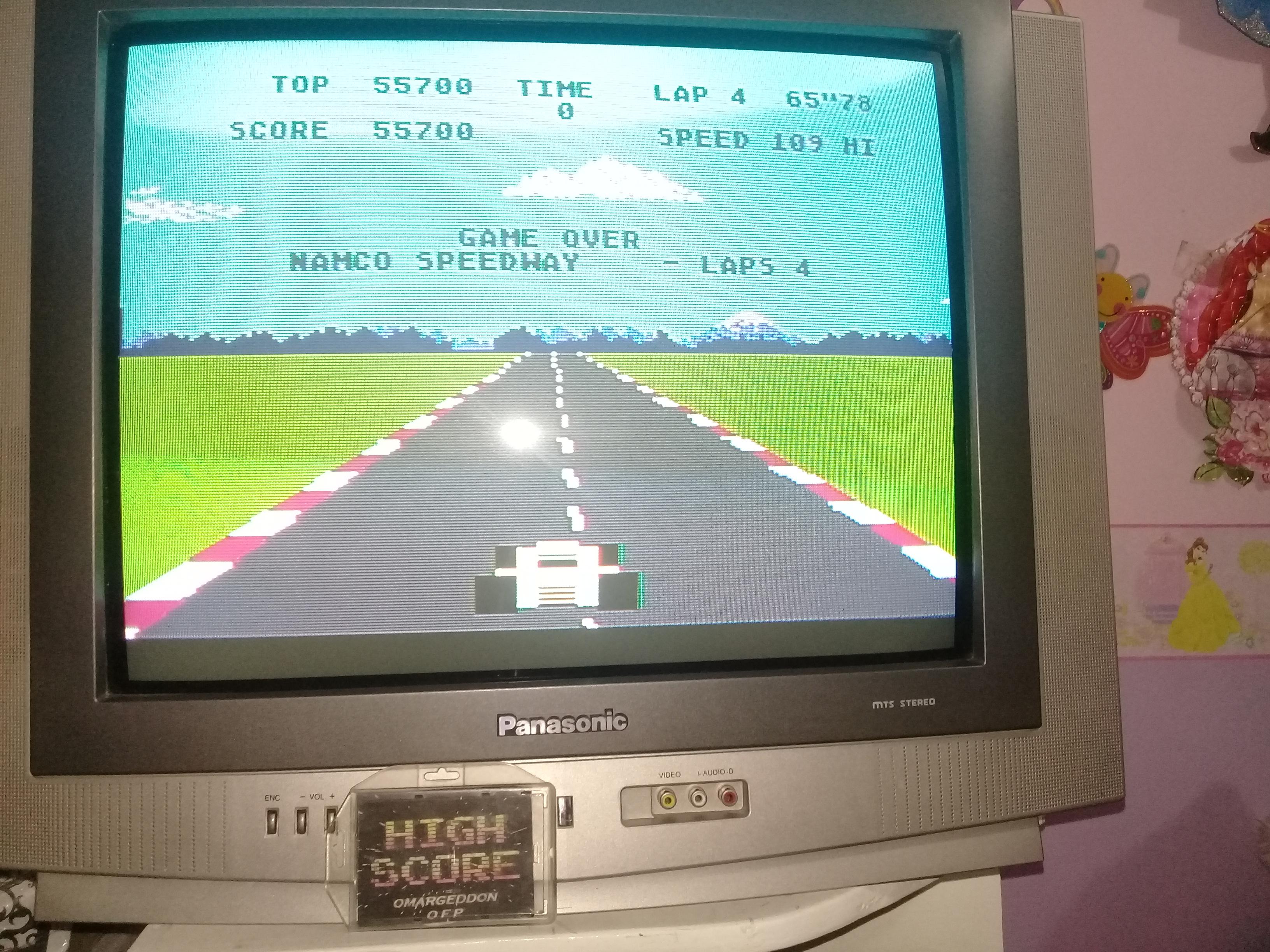 omargeddon: Pole Position: Namco Speedway [4 Laps] (Atari 400/800/XL/XE) 55,700 points on 2019-03-12 21:10:10