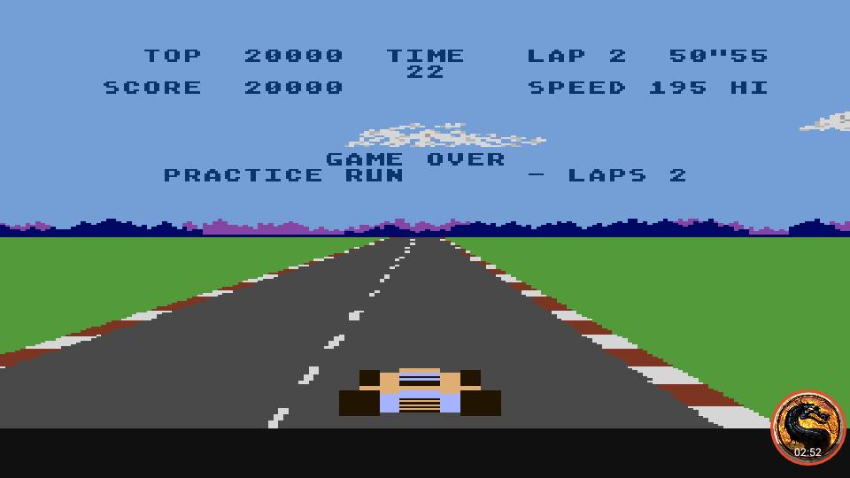 omargeddon: Pole Position: Practice Run [2 Laps / Best Lap] (Atari 400/800/XL/XE Emulated) 0:00:50.55 points on 2019-02-16 10:26:23