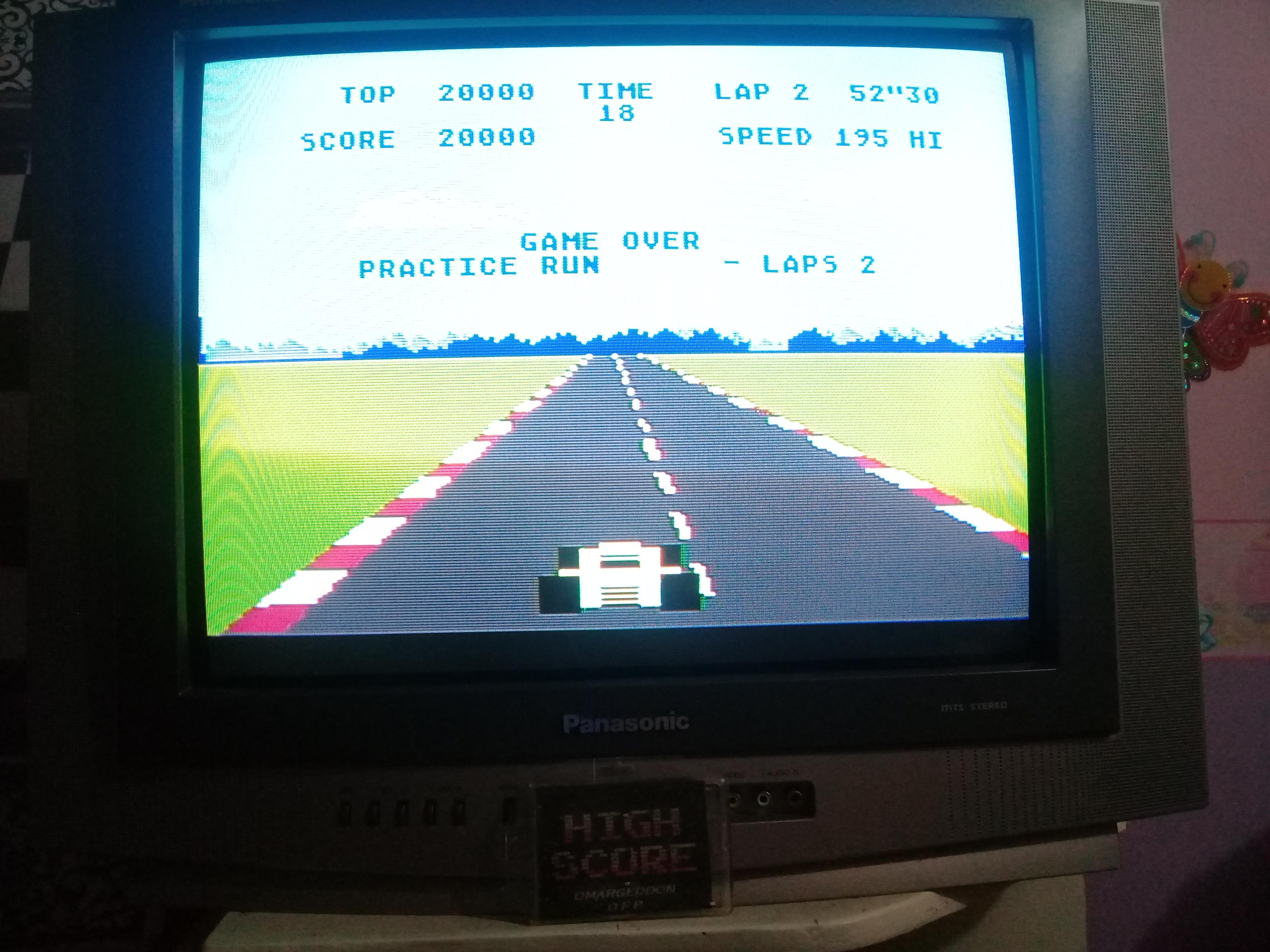 omargeddon: Pole Position: Practice Run [2 Laps / Best Lap] (Atari 400/800/XL/XE) 0:00:52.3 points on 2019-03-13 09:42:19