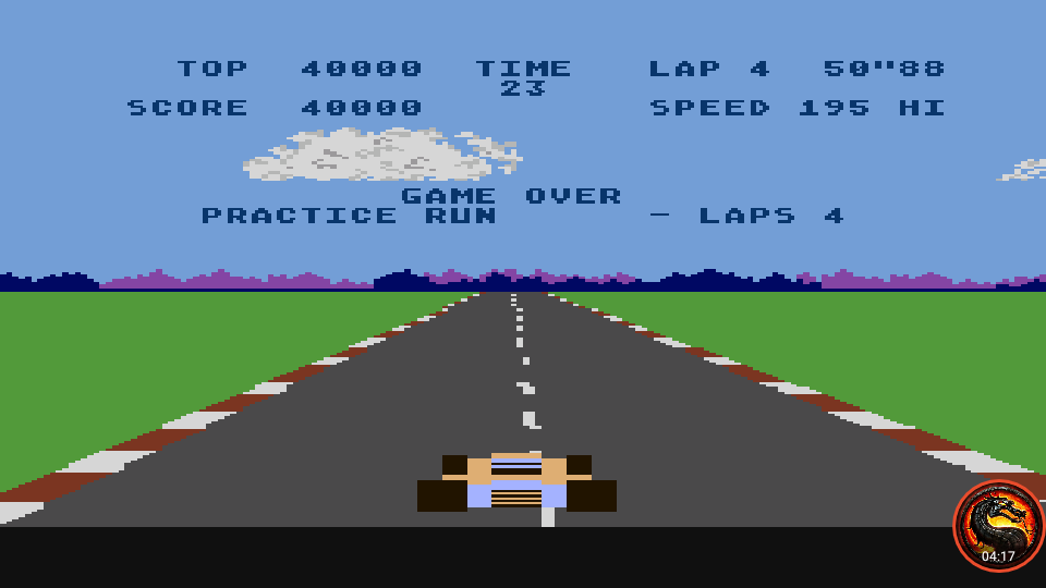 omargeddon: Pole Position: Practice Run [4 Laps] (Atari 400/800/XL/XE Emulated) 40,000 points on 2020-06-15 21:09:16