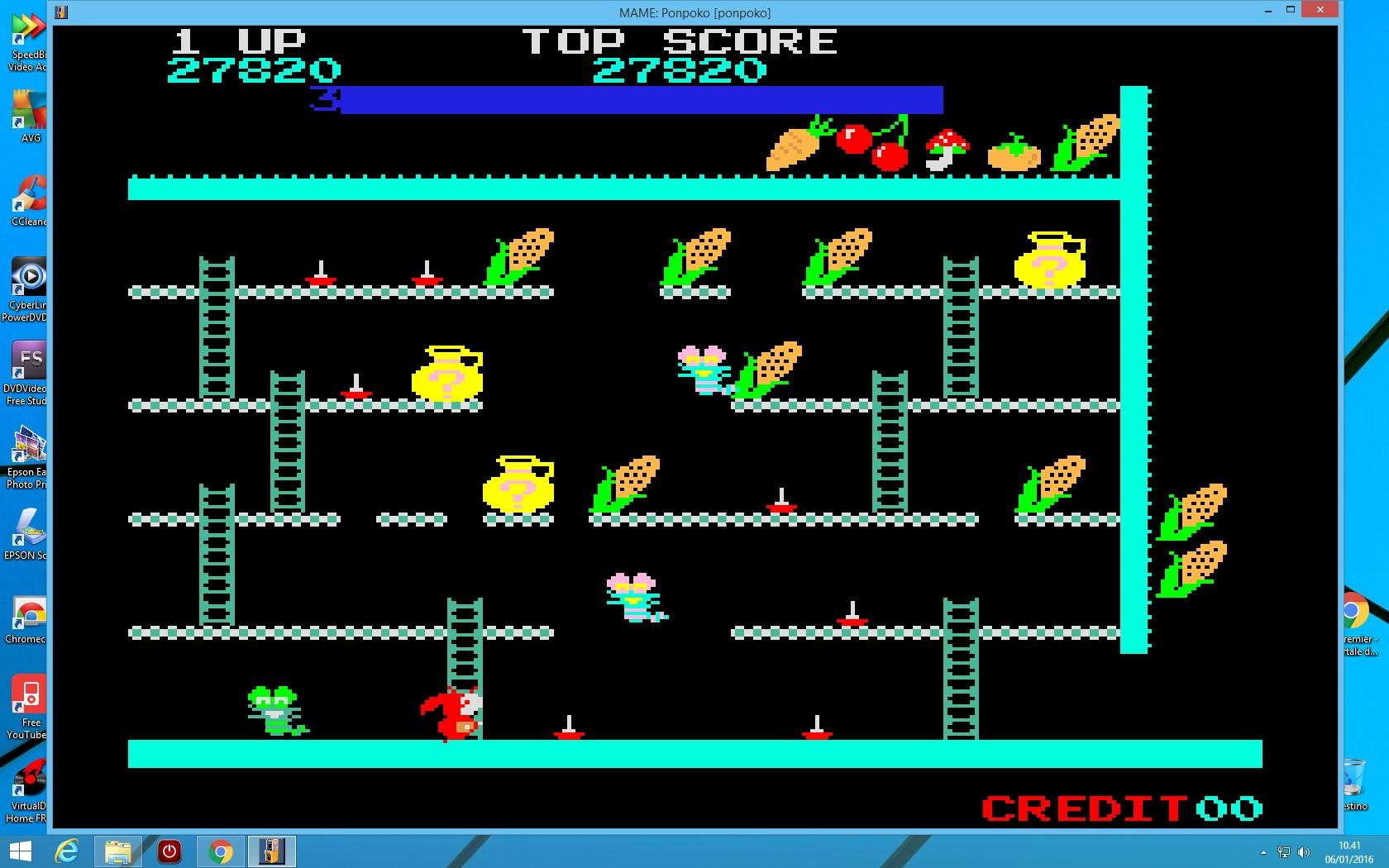 lenny2571: Ponpoko (Arcade Emulated / M.A.M.E.) 27,820 points on 2016-01-06 03:43:09